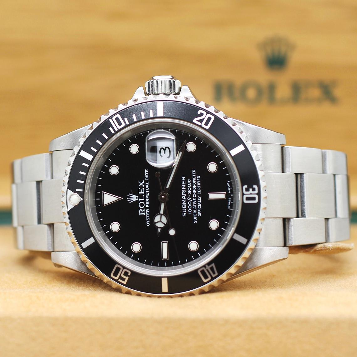 rolex submariner date stahl automatik ref 16610t rolex. Black Bedroom Furniture Sets. Home Design Ideas